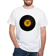 Vinyl Record White T-shirt