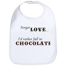 I'd Rather Fall in Chocolate Bib