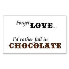 I'd Rather Fall in Chocolate Rectangle Decal