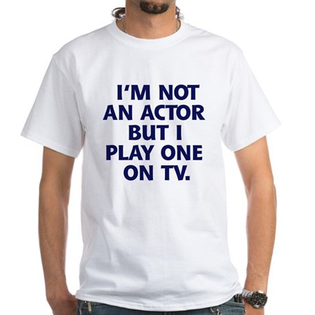 Television Actor T-shirt White