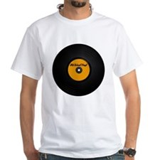 Vinyl Record White T-shirt