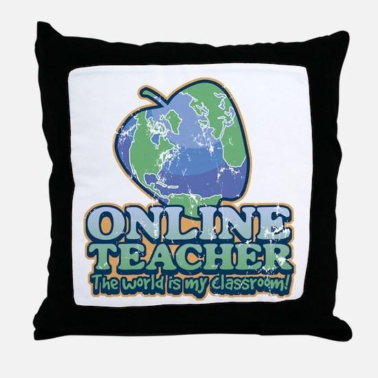 World Is My Classroom Throw Pillow