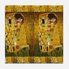 Klimt Kiss 2 Tile Coaster