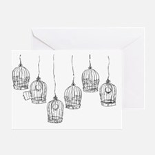 Birdcages Greeting Card