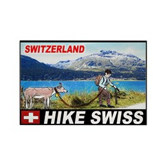 Hike Swiss Rectangle Magnet (10 pack)