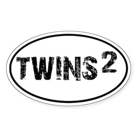 TWINS Squared Oval Sticker