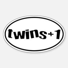 twins+1 Oval Decal