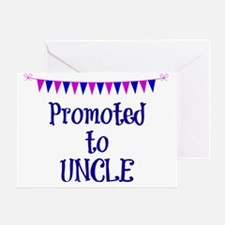 Promoted to Uncle, celebration banne Greeting Card