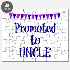 Promoted to Uncle, celebration banner Puzzle