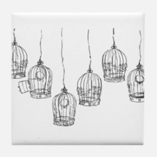 Birdcages Tile Coaster