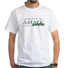 Proud Army Grandma (green) White T-shirt