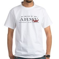 Proud Army Aunt (red) White T-shirt