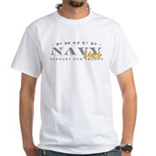 Proud Navy Uncle (gold) White T-shirt
