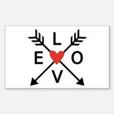 Arrows with heart and love Decal