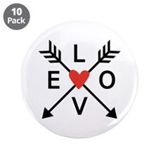 "Arrows with heart and love 3.5"" Button (10 pack)"