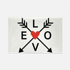 Arrows with heart and love Magnets