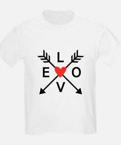 Arrows with heart and love T-Shirt