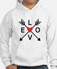Arrows with heart and love Hoodie