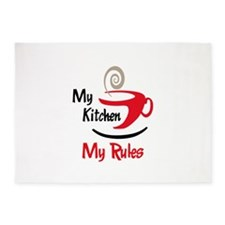 MY KITCHEN MY RULES 5'x7'Area Rug