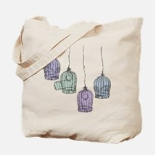Colorful Birdcages 3 Tote Bag