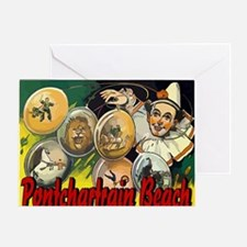 Pontchartrain Beach Clown Acts Greeting Card