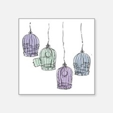 Colorful Birdcages 3 Sticker
