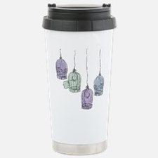 Colorful Birdcages 3 Stainless Steel Travel Mug