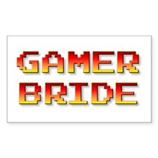 Gamer Bride Rectangle Decal