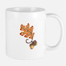 FALL OAK LEAF AND ACORNS Mugs