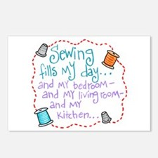 Sewing Fills My Day Postcards (Package of 8)