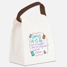 Sewing Fills My Day Canvas Lunch Bag