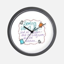 Sewing Fills My Day Wall Clock
