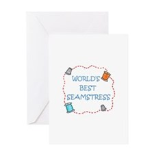 World's Best Seamstress Greeting Cards
