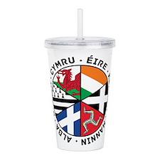 Celtic Nations Flags Black Acrylic Double-wall Tum