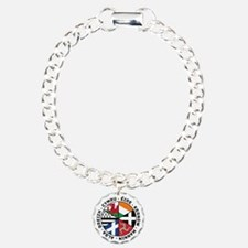 Celtic Nations Flags Black Bracelet