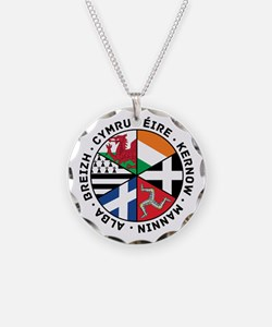 Celtic Nations Flags Black Necklace