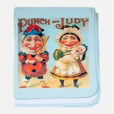 Punch and Judy baby blanket