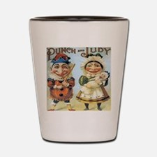 Punch and Judy Shot Glass