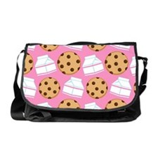 Milk and Cookies Pattern Messenger Bag