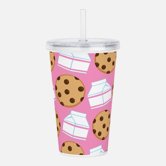 Milk and Cookies Patte Acrylic Double-wall Tumbler