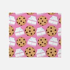 Milk and Cookies Pattern Throw Blanket