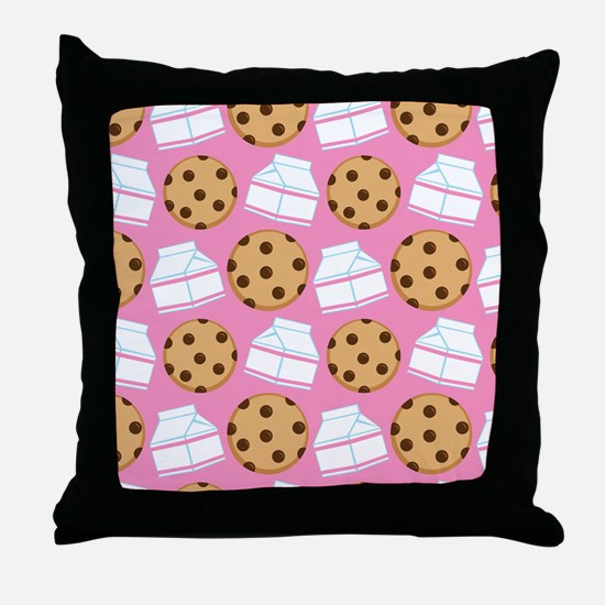 Milk and Cookies Pattern Throw Pillow
