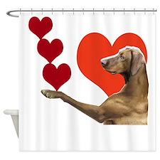 giant schnauzer hearts Shower Curtain