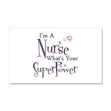 Super nurse copy.png Car Magnet 20 x 12