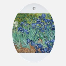 Van Gogh Irises Ornament (Oval)