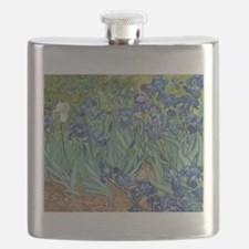 Van Gogh Irises Flask