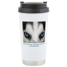 Cute Sled dogs Travel Mug