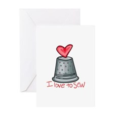 I Love To Sew Greeting Cards
