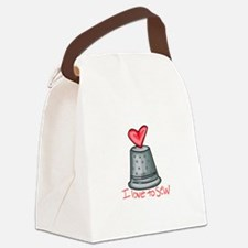 I Love To Sew Canvas Lunch Bag