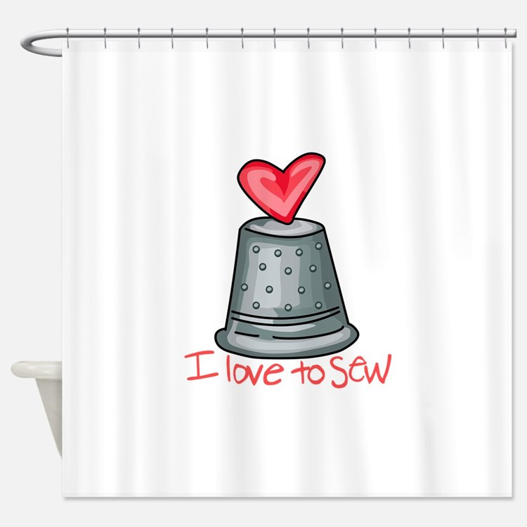 I Love To Sew Shower Curtain
